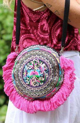 Cross Body Bag - Pink Tassels