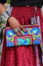 Women's Boho Purse - Hmong Floral