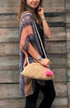Cross Body Straw Bag