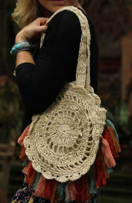 Soft Straw Shoulder Bag