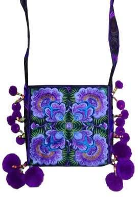 Cross Body Bag - Grape Blossom