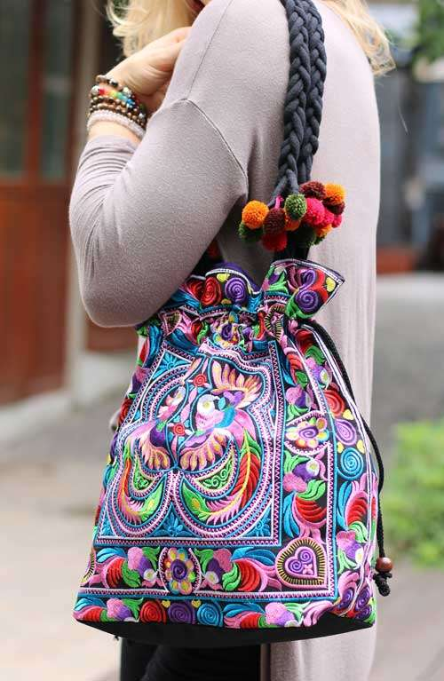 Shoulder Tote Bag - Multi Bird