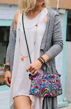 Cross Body Bag - Multi Bird