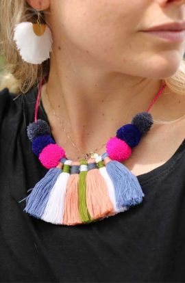 Multi Tassel Necklace - Fall