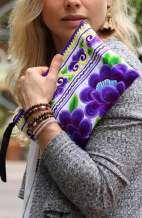 Women's Boho Purse - Violet Floral