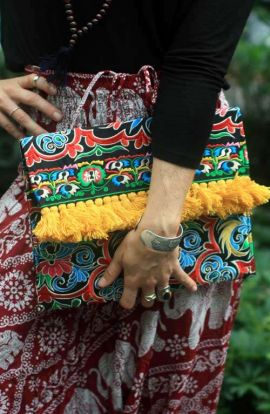 Oversized Boho Tassel Purse