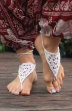 Bare Foot Sandals - Crochet