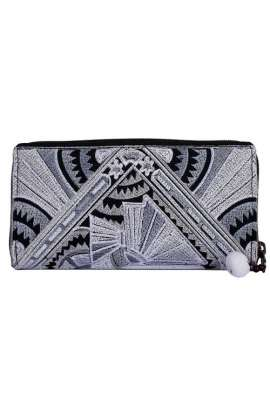 Women's Boho Purse - Silver Deco