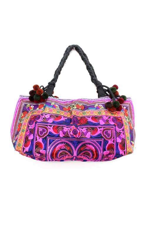 Duffel Shoulder Bag - Magenta