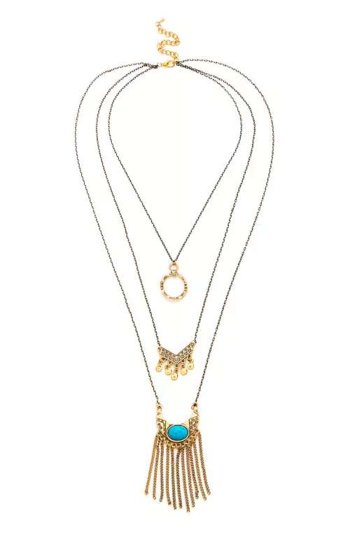Turquoise Chain Layered Necklace