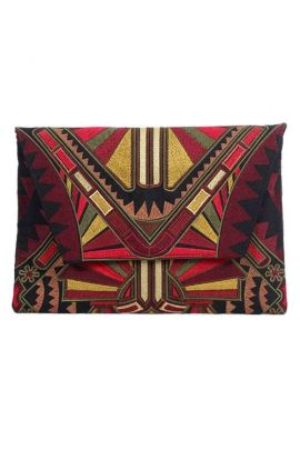 Large Tribal Clutch Purse