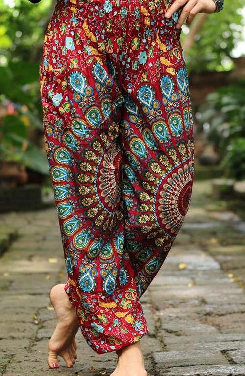 Chakra Mandala Pants - Red