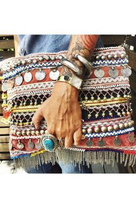 Oversized Embellished Vintage Clutch