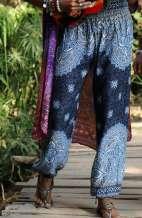 Harem Pants - Goddess Mandala Navy