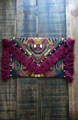 Oversized Clutch - Earth Deco
