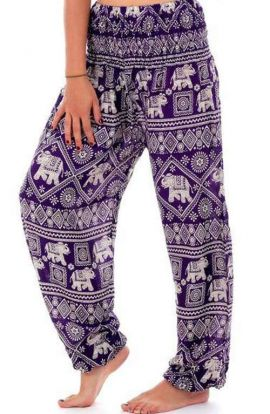 Harem Pants - Thai Elephant Print