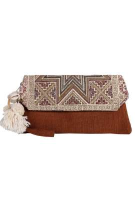 Small Rustic Jute Clutch Bag