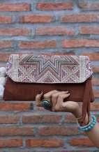 Small Rustic Jute Clutch Bag