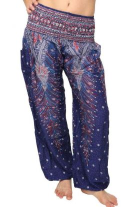 Peacock Harem Pants - Magic Blue