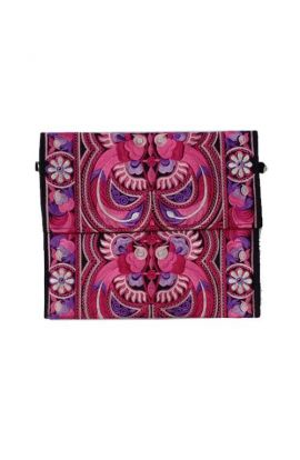 Alexa Large Clutch Purse - Fuchsia