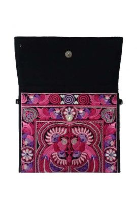 Alexa Large Embroidered Clutch Purse