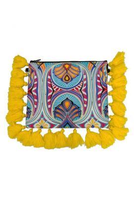 Jayla Bohemian Tassel Clutch