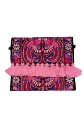 Alexa Boho Clutch Purse - Tasseled