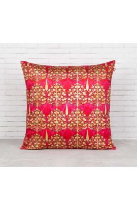 Velvet Pomegranate Pink Cushion Cover