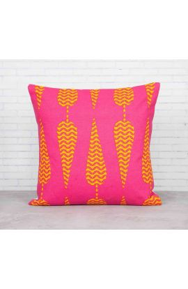 Cotton Conifers Pink Cushion Cover