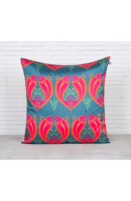 Pink Pisces Silk Cushion Cover