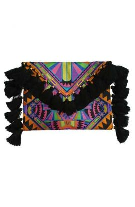 Lioness Oversized Clutch - Multi Deco