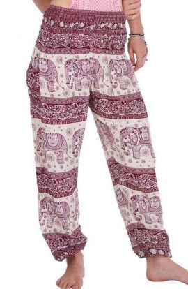 Harem Pants - Elephant Rouge