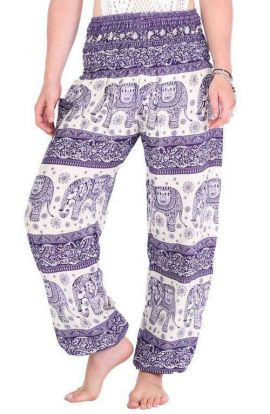 Harem Pants - Elephant Lavender