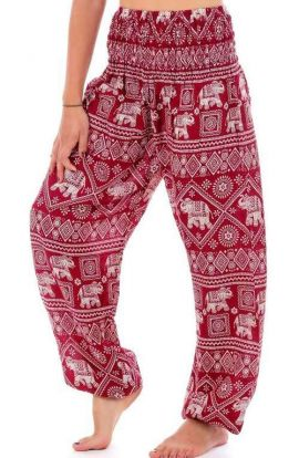 Elephant Harem Pants - Red