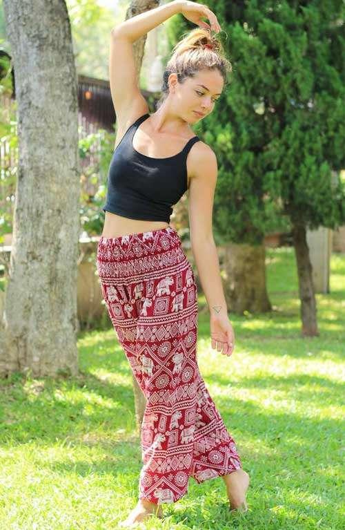 Pantalon Éléphant - Rouge