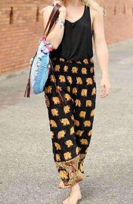 Pantalones Elefante Harem - Negro