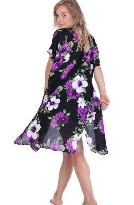 Floral Purple Kimono Cape