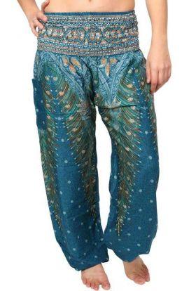 Peacock Harem Pants - Mediterranean