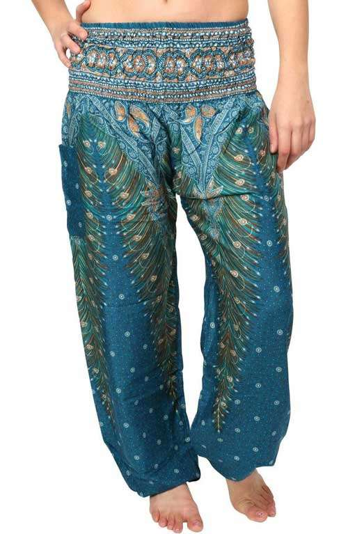 Peacock Harem Pants - Mediterranean Blue