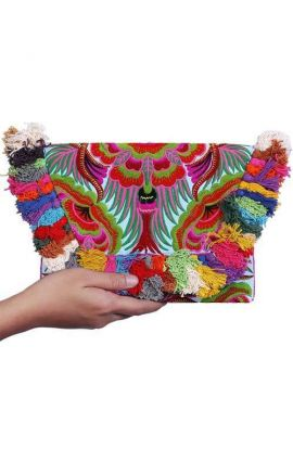 Colorful Bird Coin Clutch