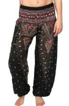 Peacock Harem Pants - Black