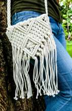 Crochet Woven Cross Body Bag