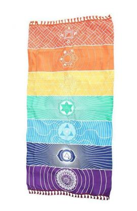 Rainbow Yoga Beach Towel & Mat