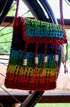 Rainbow Crochet Handbag