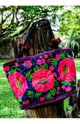 Shoulder Tote Bag - Pink Lipstick