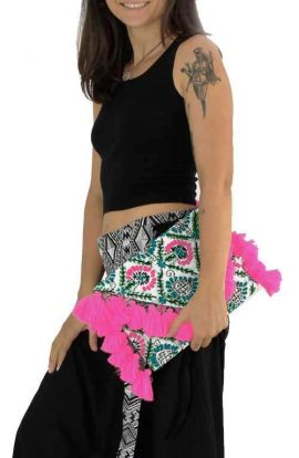 Offbeat Tassel Clutch - Pink