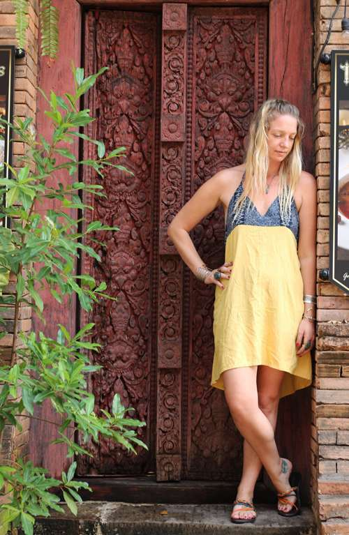 Sienna Short Hemp Dress - Batik