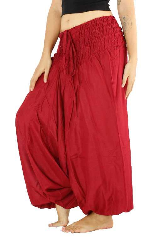 Festival Harem Pants - Red