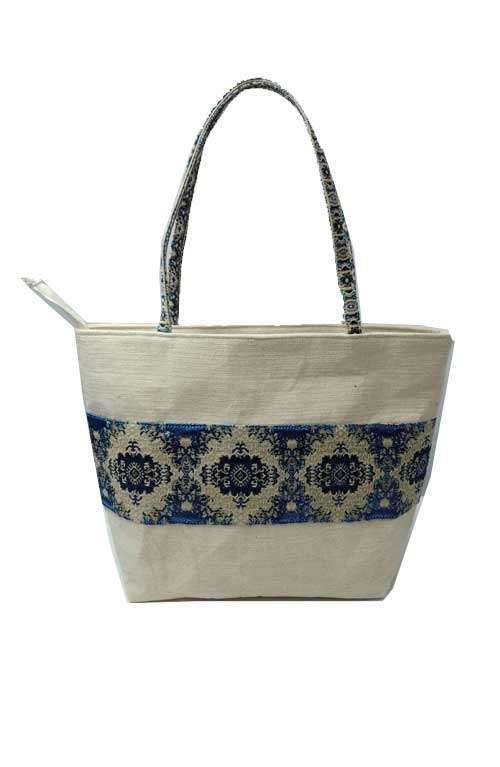 Vintage Fabric Hippie Half Circle Bag