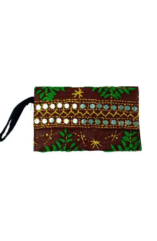 Ruby Wristlet - Rustic Red Beaded